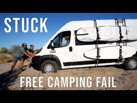 We Got STUCK While Searching for Free Camping in Baja California Norte - Van Life Mexico - Ep 55