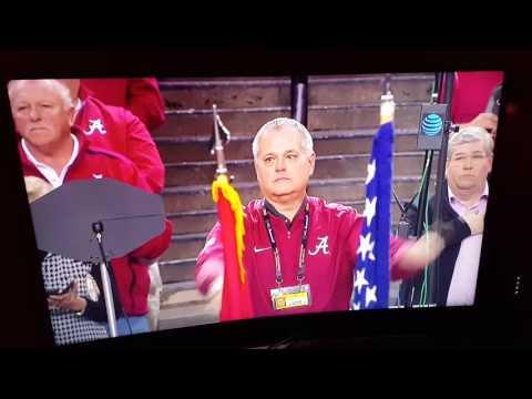 The University of Alabama Million Dollar Band and Washington Husky Band - National Anthem
