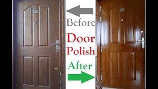 Natural Teak Wood Polish | Natural Polish or French Polish applying Procedure | Door Polish Process