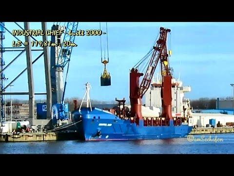 INDUSTRIAL CHIEF V7VP6 IMO 9213947 Emden cargo seaship merchant vessel Seeschiff Frachtschiff