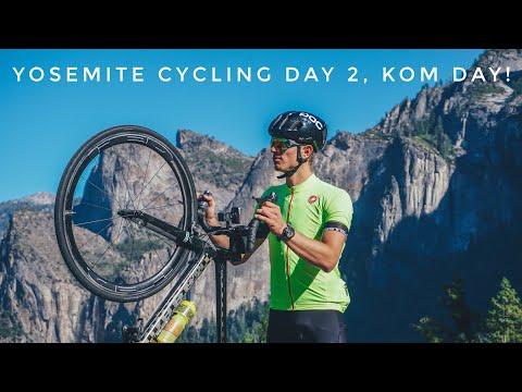 FASTEST HILL BOMB DOWN GLACIER POINT YOSEMITE! Taking the Strava KOM? w/ the Vegan Cyclist!