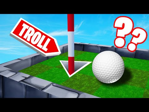 Can You SOLVE This TROLL HOLE?! (Golf It Troll Map)