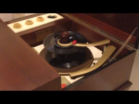 1957 Voice of Music Hi-Fi Record Changer Console Model 562