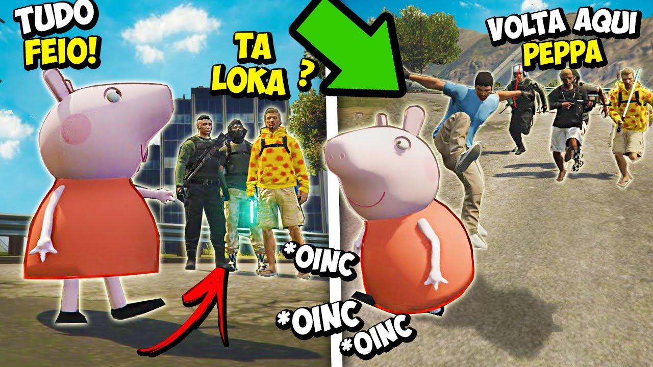 PEPPA PIG JOGANDO GTA RP!  (DEU RUIM)