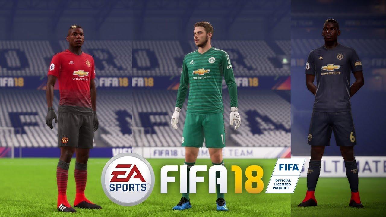 f772bcca9 FIFA 18 FULL KITS MANCHESTER UNITED   DDS - YouTube
