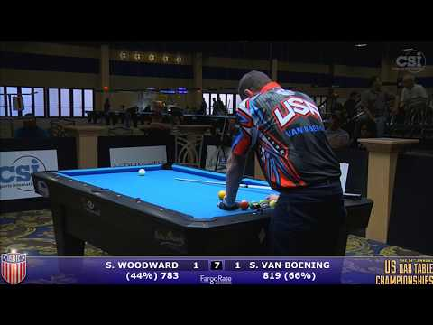2017 US Bar Table Championships 10-Ball: Skyler Woodward vs Shane Van Boening Finals-Set 2