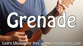 Grenade - Bruno Mars - Ukulele Fingerpicking  Song Tutorial - Low G - Play-a-long