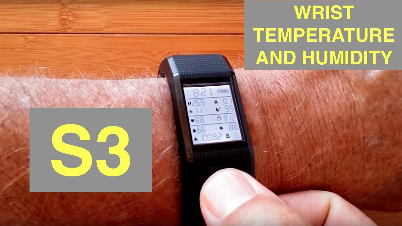 HESVIT S3 Advanced Health/Fitness Band with Wrist Skin Temp, Body Humidity: Unboxing & Review