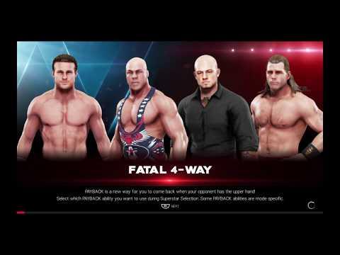 WWE 2K19 Kurt Angle VS Corbin,Ziggler,Michaels Fatal 4-Way Elimination Match