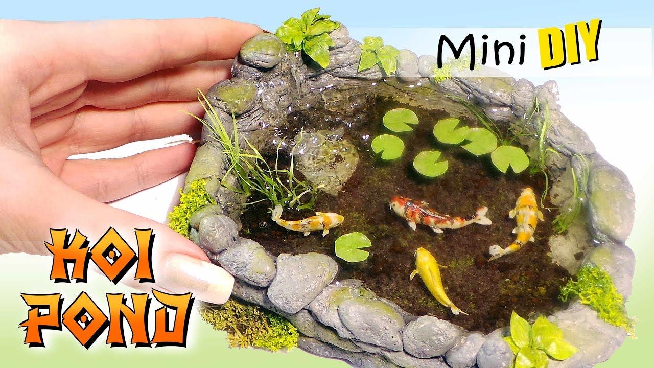 Miniature koi pond tutorial diy dolls dollhouse for Miniature koi fish