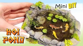 Miniature Koi Pond Tutorial // DIY Dolls/Dollhouse