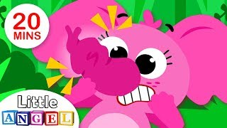 Baby Elephant Can't Blow Bubbles | Where O Where has my Little Dog Gone? Kids Songs by Little Angel