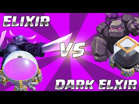 Elixir Vs. Dark Elixir! | Clash of Clans