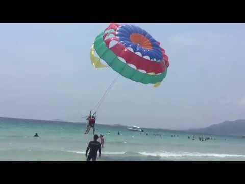 Parasailing in Nha Trang beach# Canô kéo dù bay ở Nha Trang# Du Lịch Miền Đông Nam Bộ