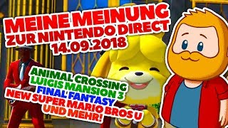 Meine Meinung: Nintendo Direct, ANIMAL CROSSING, Luigis Mansion 3 und Nintendo Online!