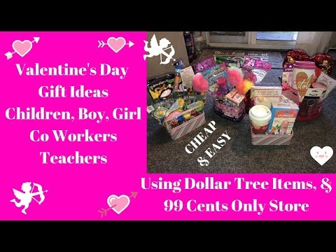 Valentines Day DIY Childrens, Co Worker, Teacher Gift Ideas~Dollar Tree 🌳 99 Cents Only Store~Easy!