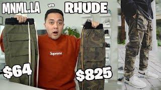 $825 Rhude Cargos vs.  $64 Mnml.la (Review and Comparison)