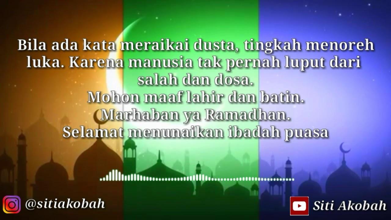 Ucapan Mohon Maaf Lahir Batin Menyambut Ramadhan No Copyright