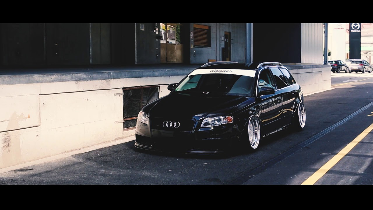 audi a4 b7 bagged on rotiform handsome youtube. Black Bedroom Furniture Sets. Home Design Ideas