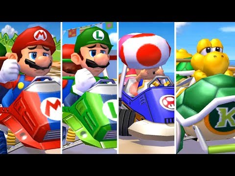 Mario Kart: Double Dash - All Characters Losing Animations