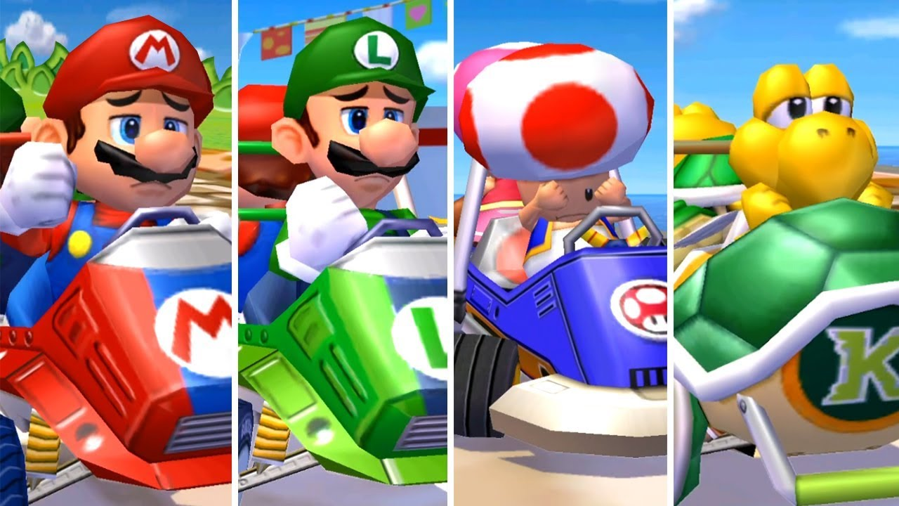 Mario Kart Double Dash All Characters Losing Animations Youtube