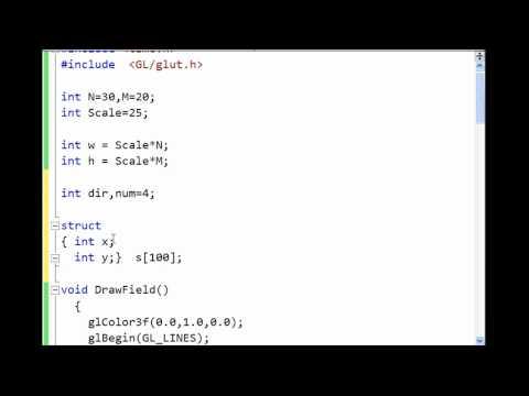 Создание игр на C++ : Змейка