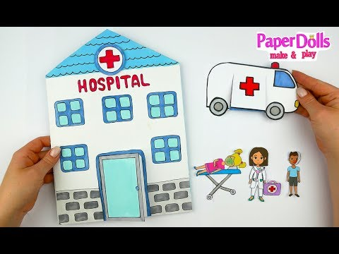 HOSPITAL PAPER QUIET BOOK DOCTOR &MEDICAL KIT CRAFTS FOR KIDS