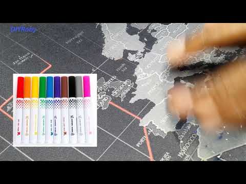 Easily remove ink pen marker stains from mousepad or desk mat, like magic. Full wash tutorial.