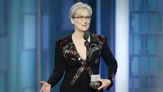 Meryl Streep Criticizes Trump at Golden Globes