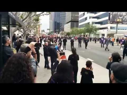 Armenian Genocide 100th Anniversary Protest March Los Angeles
