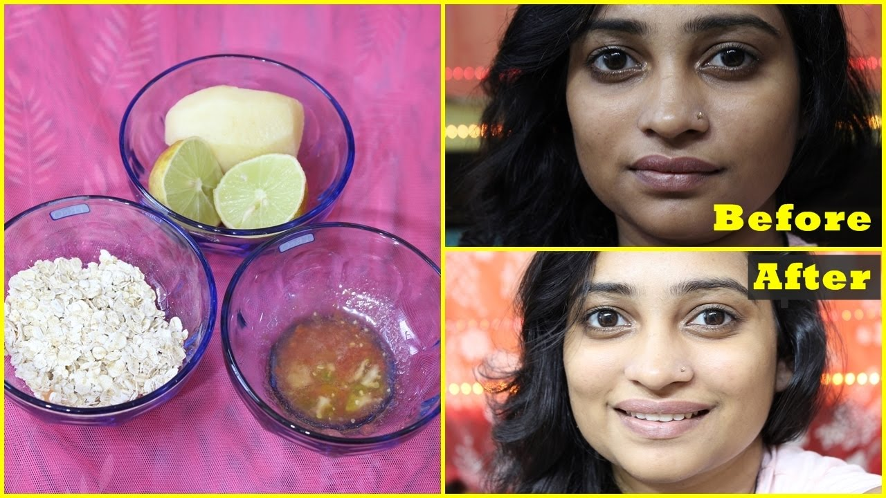 NATURAL Facial at HOME in 9 Minutes for Instant Glowing, BRIGHT, Fairer,  Fresh Looking Skin : DIY