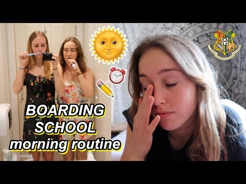 boarding school morning routine 🌞