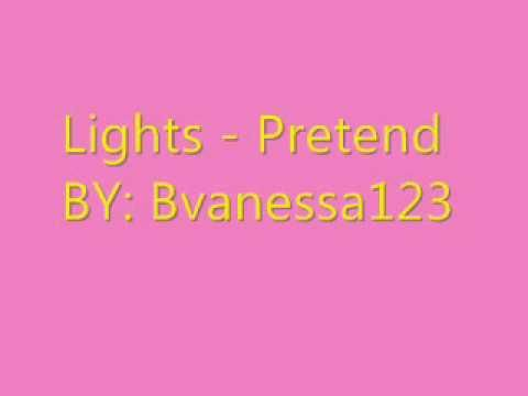 Lights - Pretend - Karaoke/Instrumental + Lyrics (ON SCREEN)