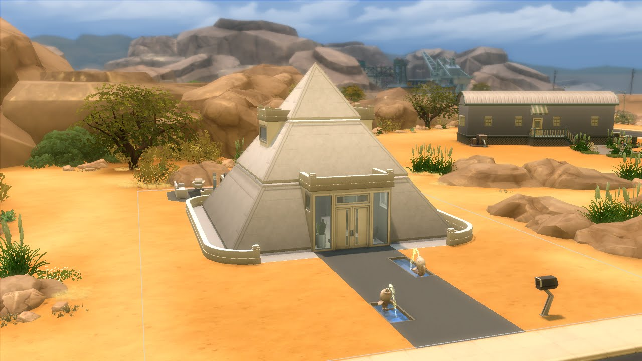 The sims 4 house building modern pyramid youtube for Building a house