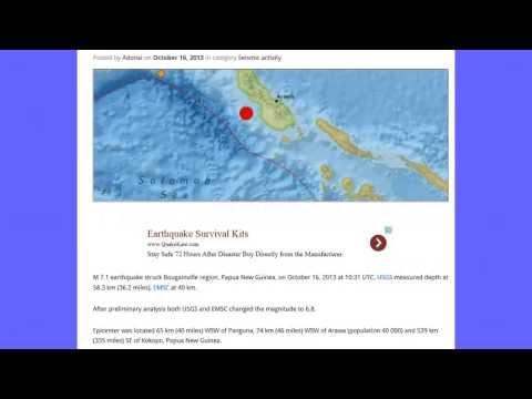 MAG 6.8 Earthquake Papua New Guinea