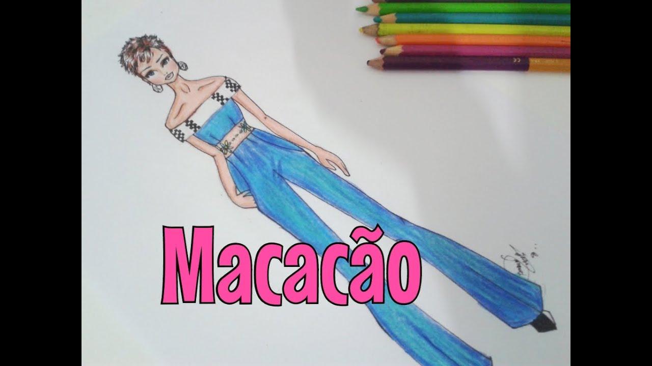 Desenho De Moda Rapido Macacao Youtube