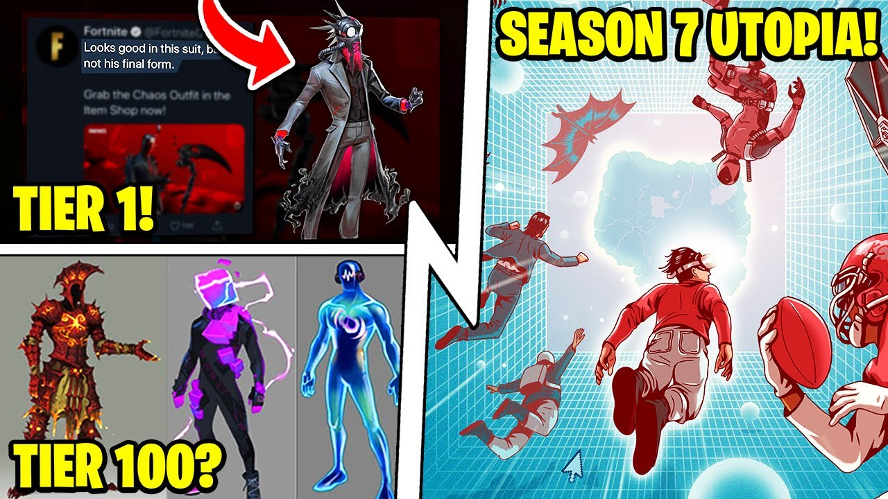 "Season 7 ""UTOPIA"", Battle Pass Tier 1 & Tier 100, Fortnite Trailer!"