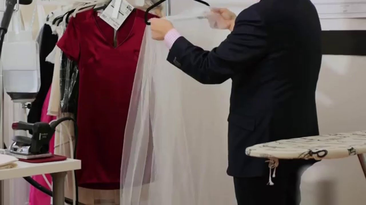 How to iron wedding veil wedding dress dry cleaning jeeves new how to iron wedding veil wedding dress dry cleaning jeeves new york youtube ombrellifo Gallery