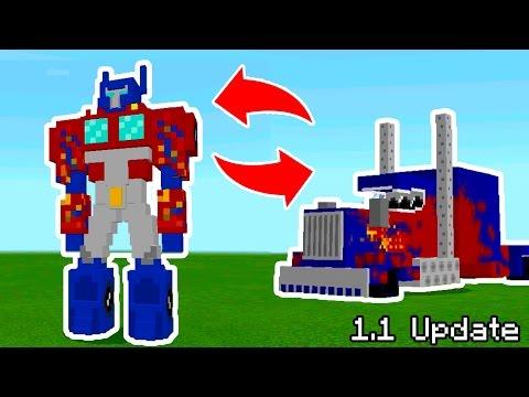 New Transformer Mobs in Minecraft Pocket Edition 1.1 Update!! (Transformer Mob Addon)