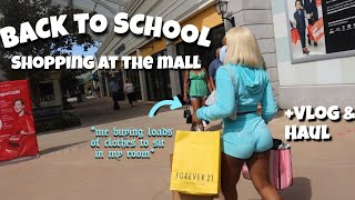 BACK TO SCHOOL SHOPPING VLOG + HAUL!