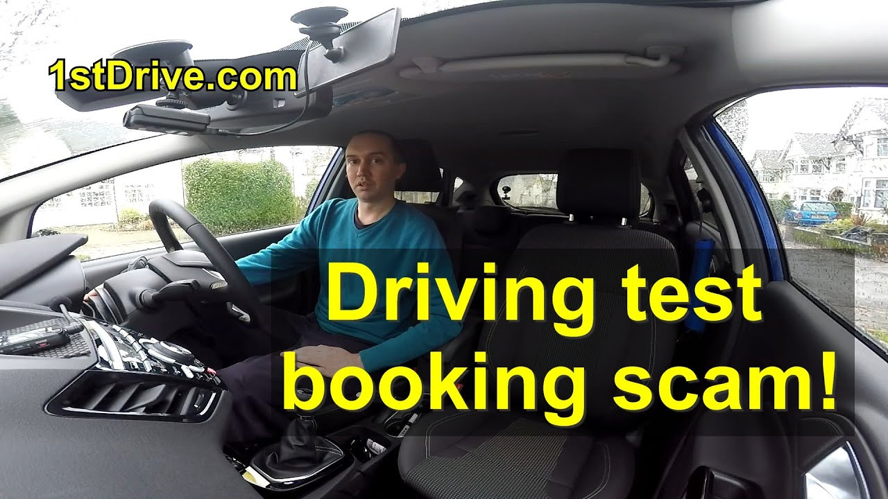 Driving test booking scam a test within days