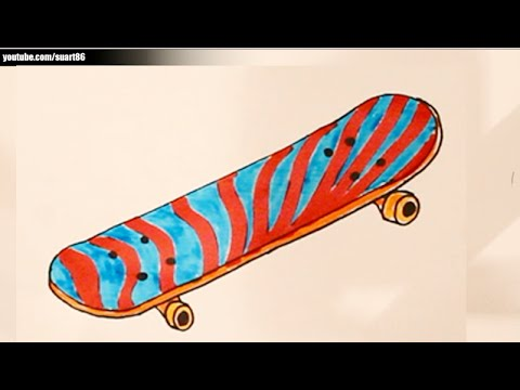 how to put a design on a skateboard
