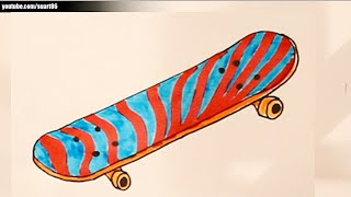 How to draw a skateboard