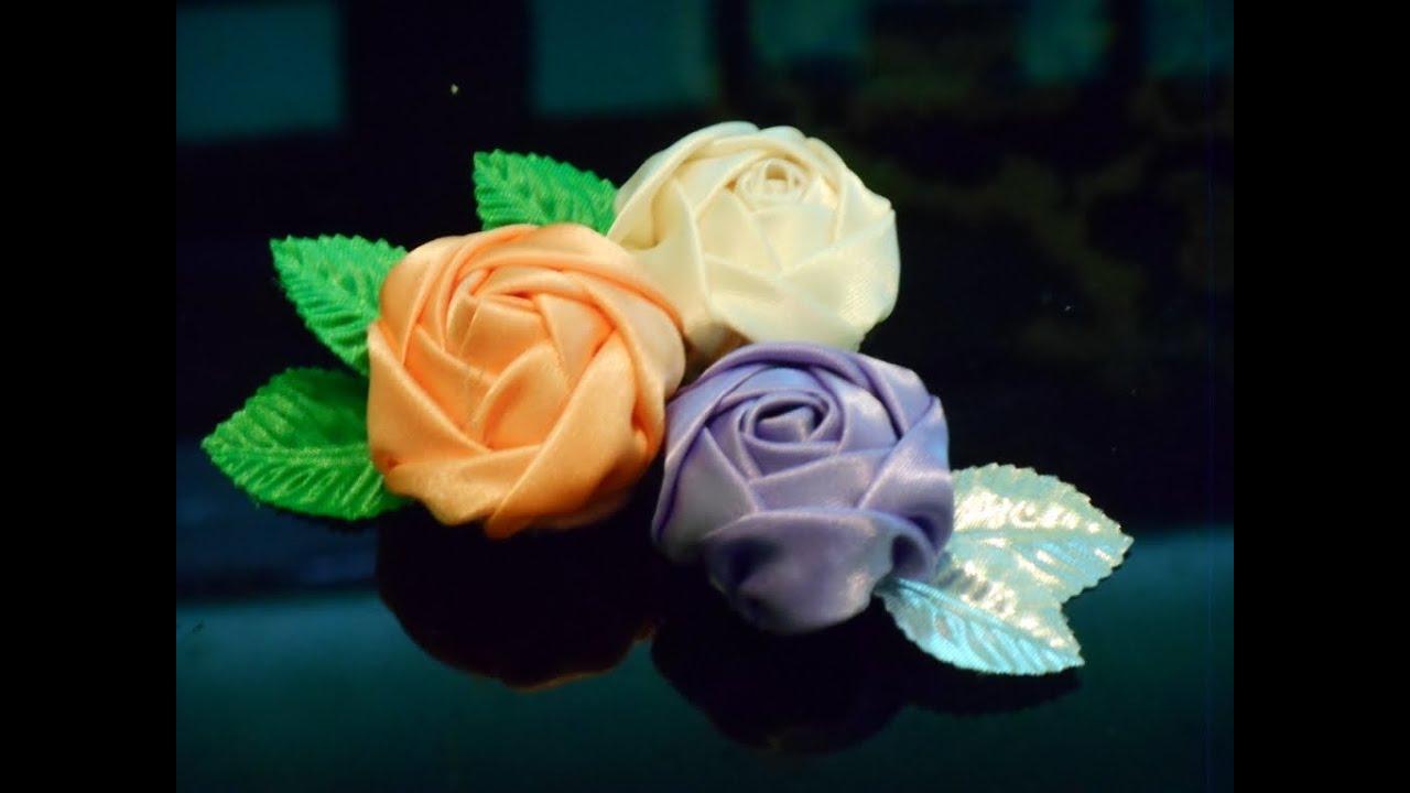 Diy fabric flowers how to make youtube izmirmasajfo