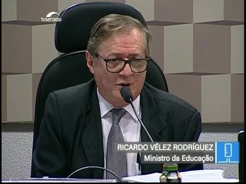 CE - Debate prioridades da Educação com o ministro Ricardo Vélez - TV Senado ao vivo - 26/02/2019