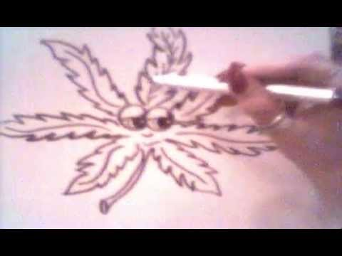 Watch And Learn Draw A Pot Leaf Cartoon Character Youtube