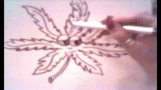 Watch and Learn...Draw a Pot Leaf Cartoon Character