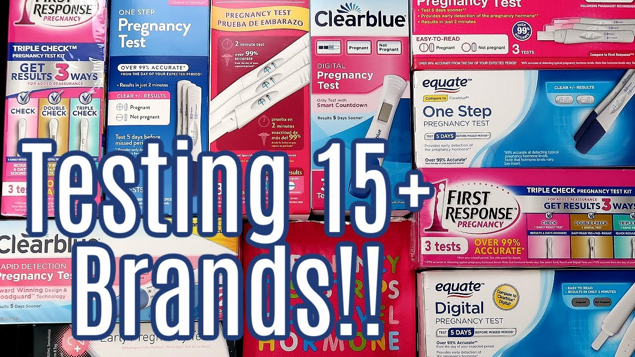 BEST & WORST PREGNANCY TESTS (2020)   BEFORE MISSING ...