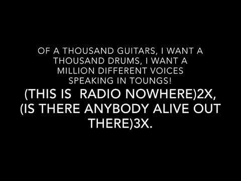 Radio Nowhere Bruce Springsteen-Lyrics