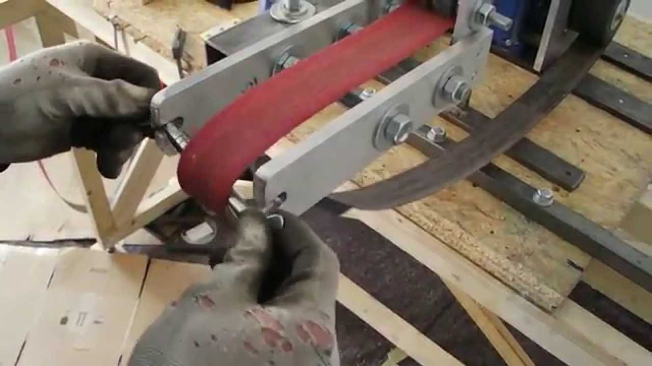 homemade 2x72 vertical / belt grinder - bandschleifer